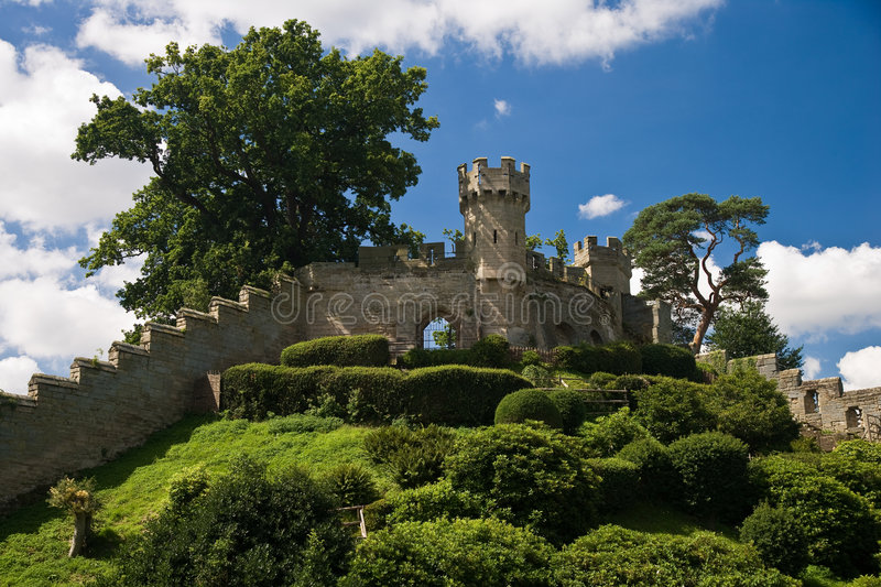 Warwick Castle walls royalty free stock images