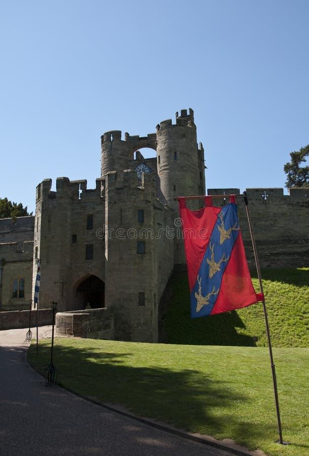 warwick för slottporthusfällgaller arkivbilder