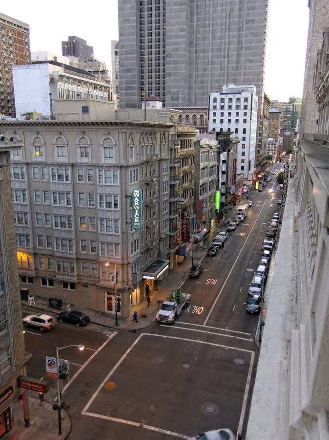 Warwick Hotel en Geary Street San Francisco fotografía de archivo libre de regalías
