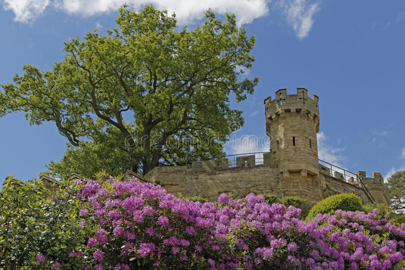 Warwick kasztelu kopiec fotografia royalty free