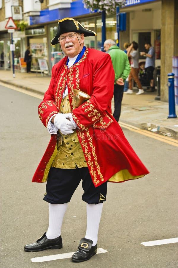 Warwick urzędnika miasta Grodzki Crier 'artykuł wstępny Tylko' obrazy royalty free
