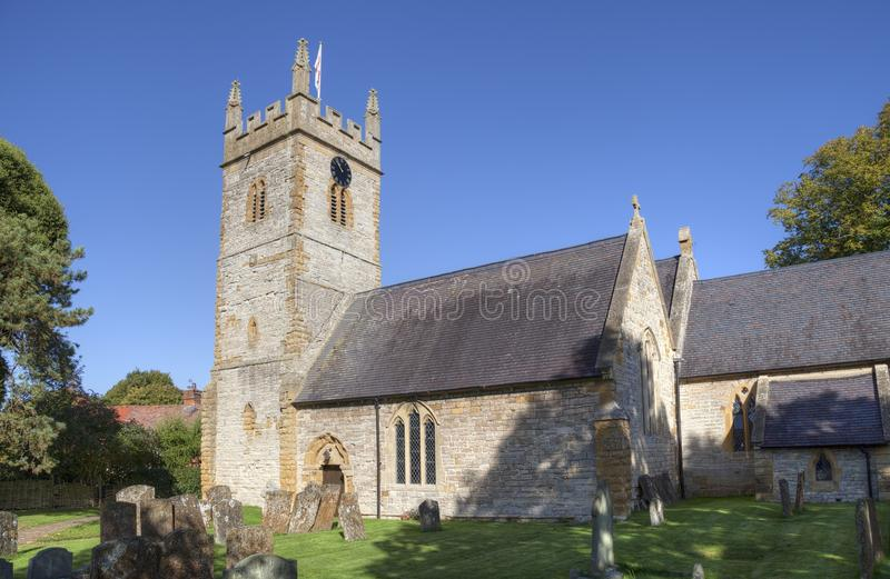 Warwickshire kerk, Engeland royalty-vrije stock afbeelding