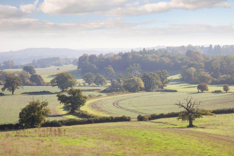 Warwickshire-Landschaft, England stockfotos