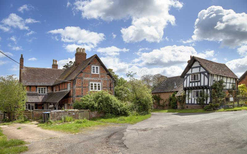 Warwickshire plattelandshuisjes stock foto