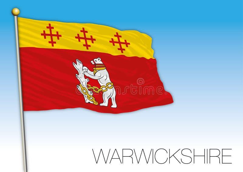 Warwickshire vlag, het Verenigd Koninkrijk, provincie van het UK royalty-vrije illustratie
