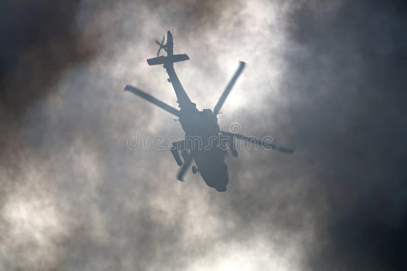 Warzone helikopter obrazy stock