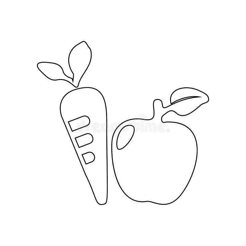 Warzyw i owoc ikona Element ogr?d dla mobilnego poj?cia i sieci apps ikony Kontur, cienka kreskowa ikona dla strona internetowa p ilustracja wektor
