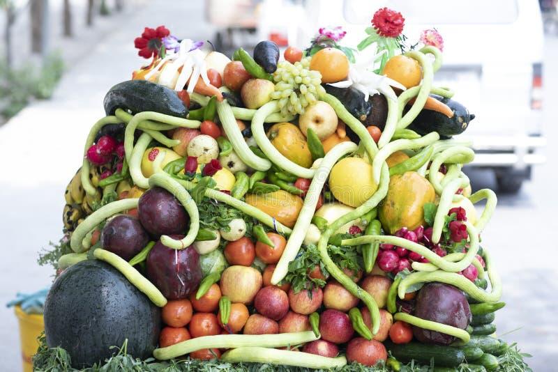 warzywa świeże owoce obraz royalty free