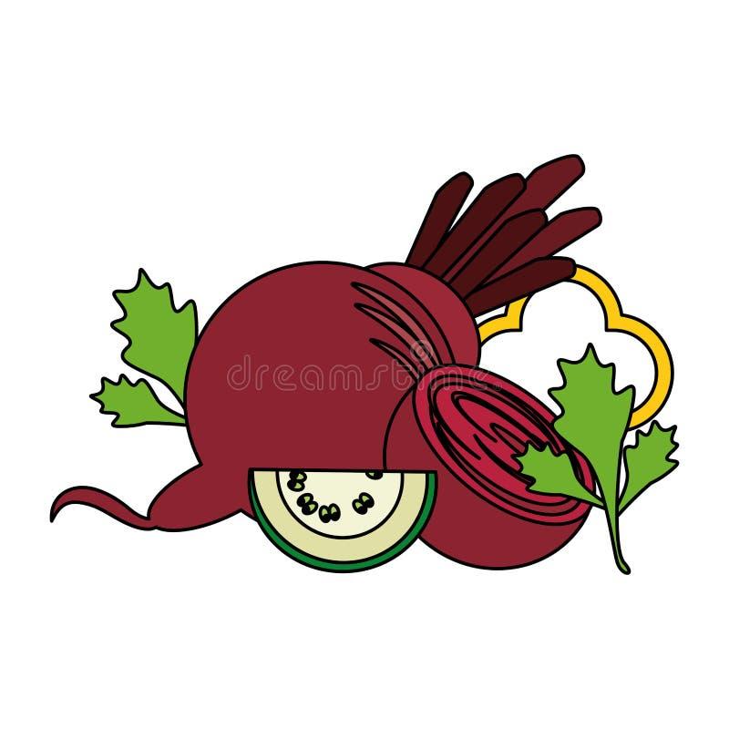 Warzywa świezi i zdrowy jedzenie royalty ilustracja