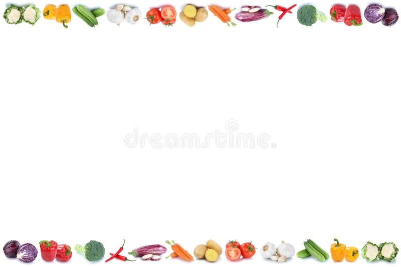 Warzywa copyspace kopii przestrzeni granicy marchewek pomidory świezi byli fotografia royalty free