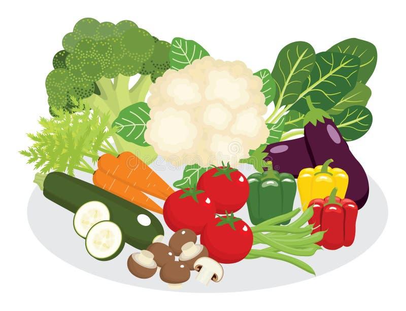 Warzywa i legumes dieta ilustracji