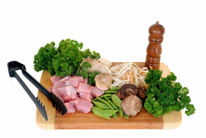 warzywa mięsny wok obraz stock