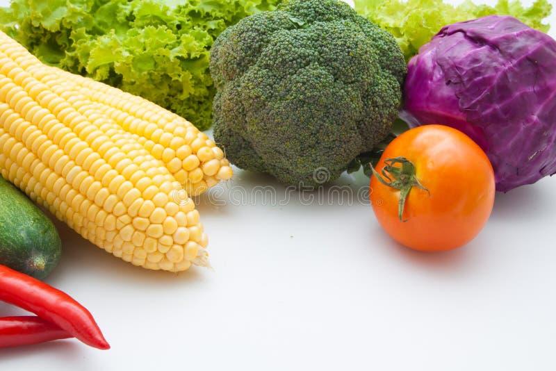 Warzywa odizolowywający na bielu obrazy stock