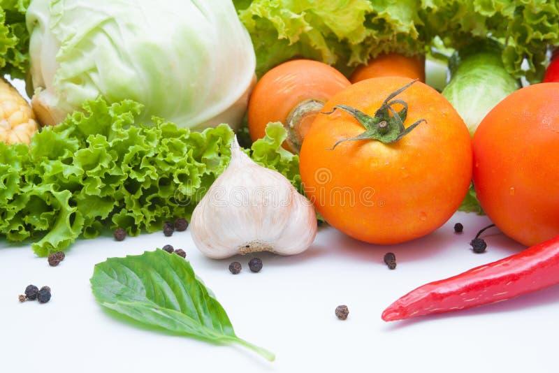 Warzywa odizolowywający na bielu obrazy royalty free