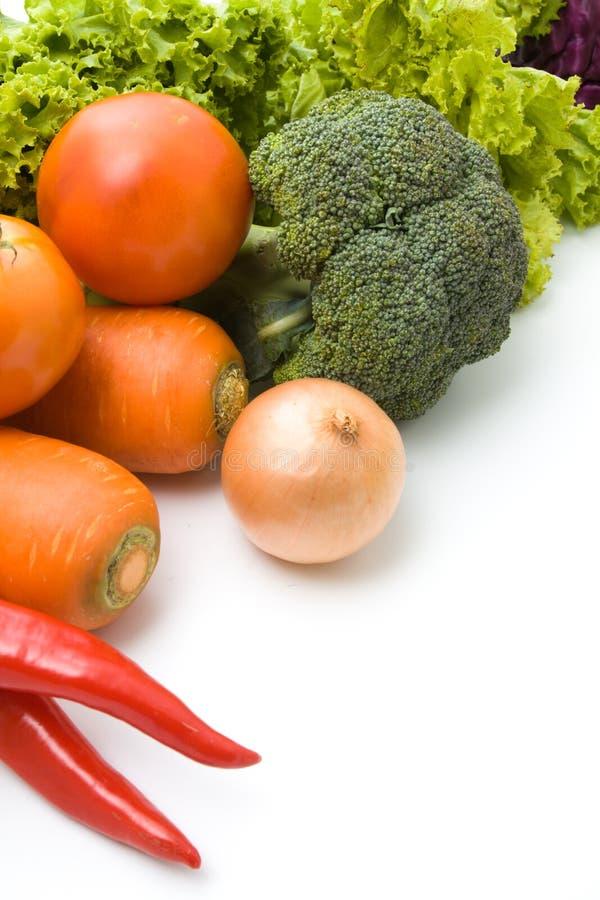 Warzywa odizolowywający na bielu zdjęcie stock