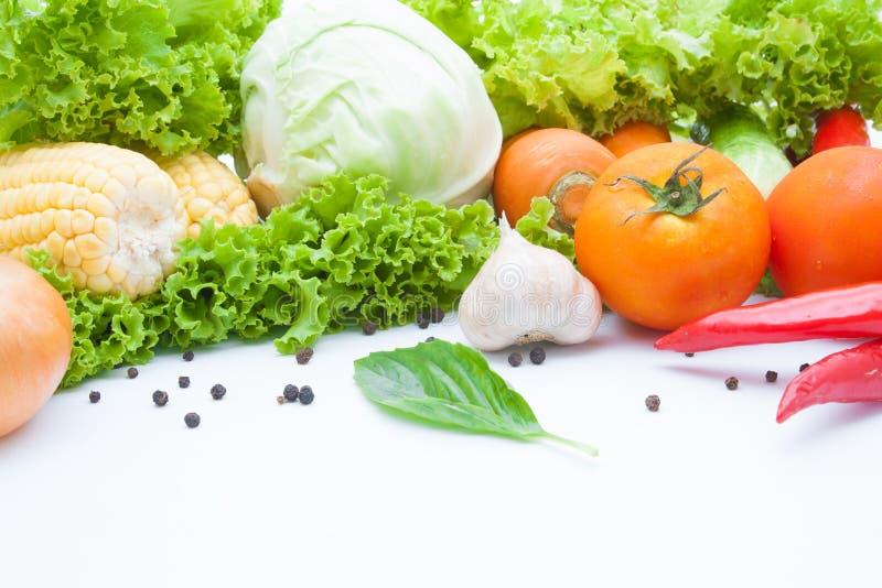 Warzywa odizolowywający na bielu obraz stock