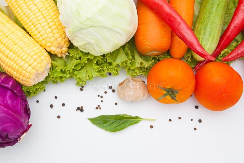Warzywa odizolowywający na bielu zdjęcie royalty free