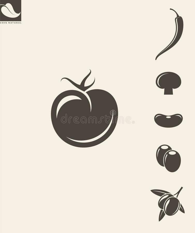 Warzywa Set ilustracji