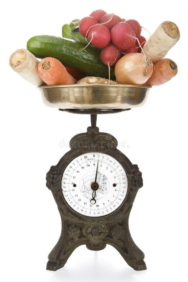 warzywa skali roczne wagi obrazy stock