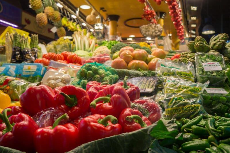 Warzywa w Boqueira zdjęcia stock