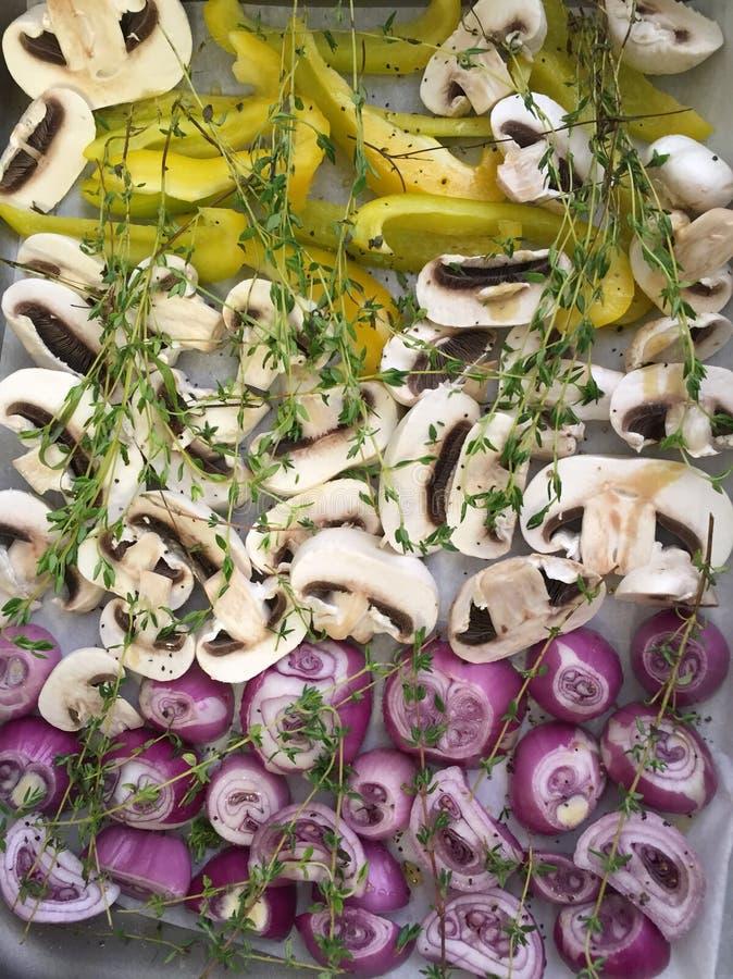 Warzywa w piekarniku zdjęcie stock