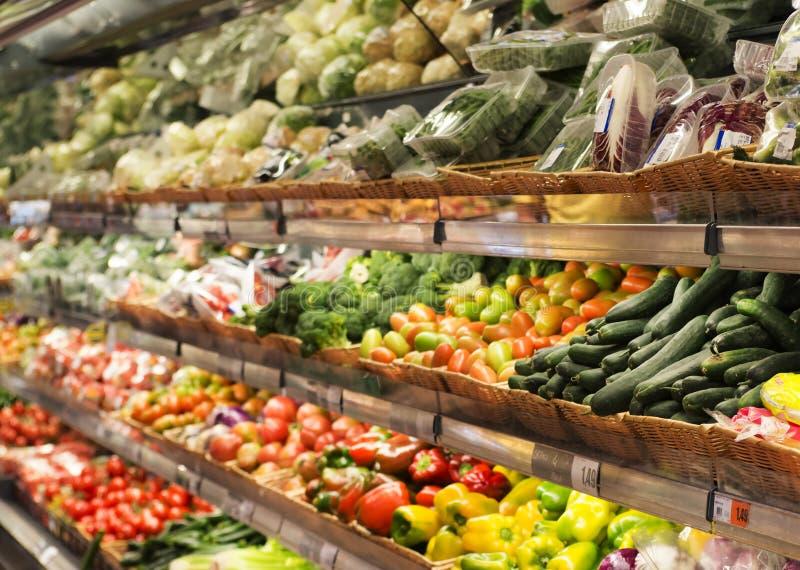 Warzywa wydziałowi w supermarkecie zdjęcia royalty free