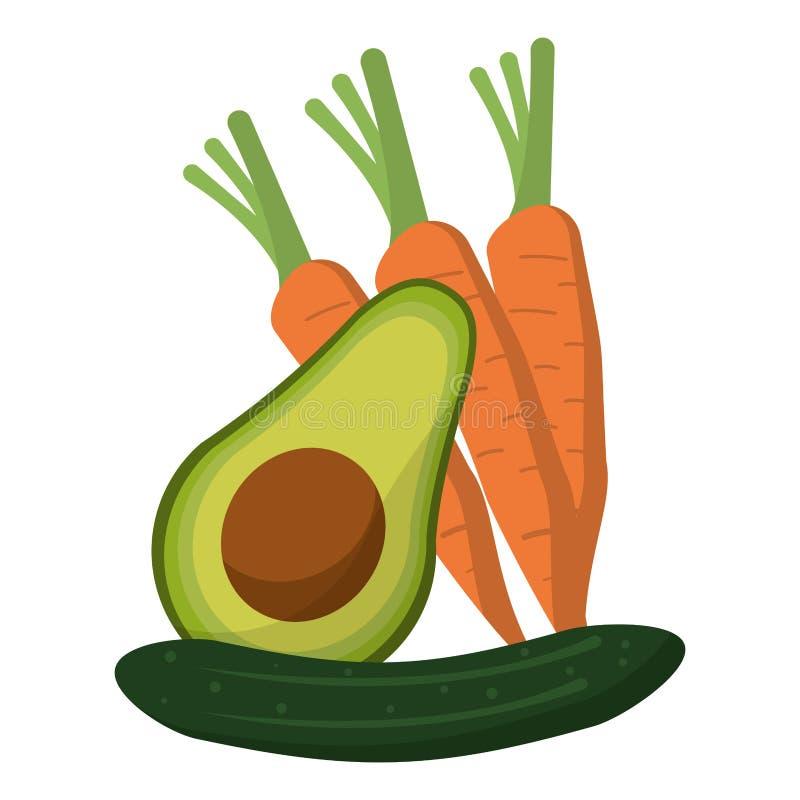 Warzywa zdrowi i świeża żywność royalty ilustracja