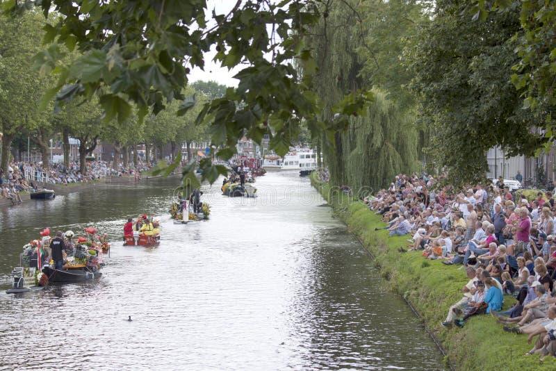 Warzywo parada jest corocznym wydarzeniem w mieście Delft zdjęcia stock