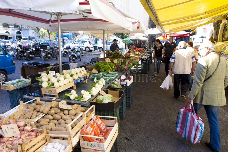 Warzywo rynek od Catania miasta zdjęcie royalty free
