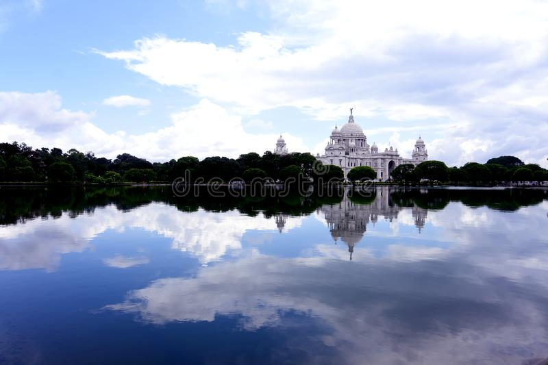 Victoria Memorial With Landscape stock photography