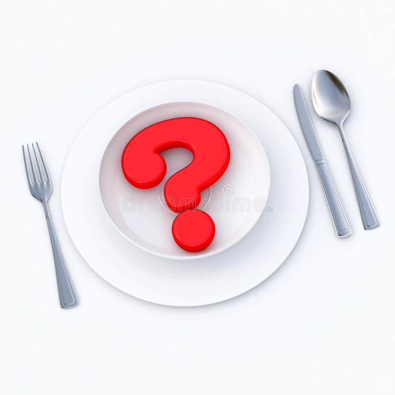 Was essen Sie? vektor abbildung