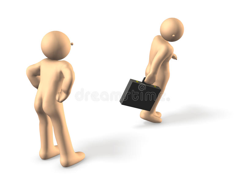 Download He Was Expelled. Looking Back With Resentment. Stock Illustration - Image: 26136204