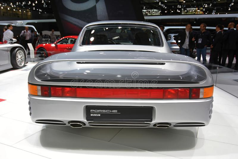 Paris Motor Show 2018 - Porsche 959 royalty free stock photo