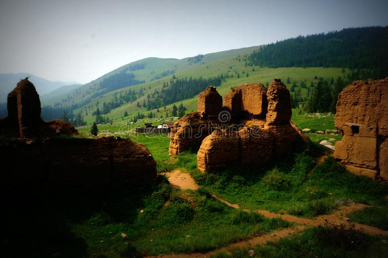 Mongolia The Manjushri Monastery, which is located in Tuv Aimak, is 43 km south of Ulaanbaatar. stock images