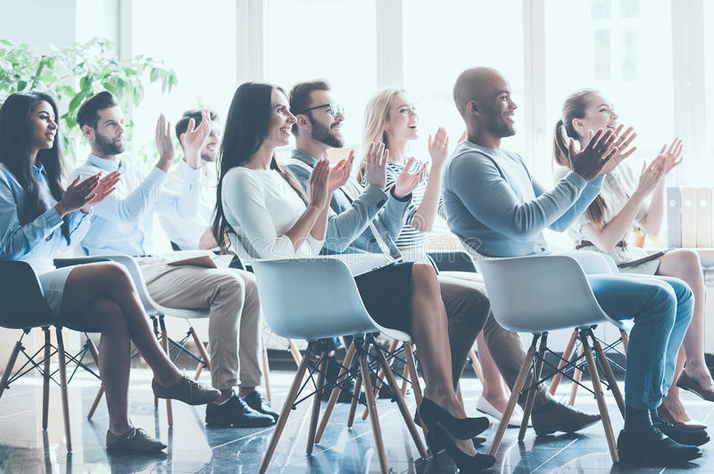 That was really great seminar. stock image