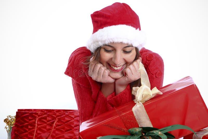Was habe ich für Weihnachten erhalten? stockbild