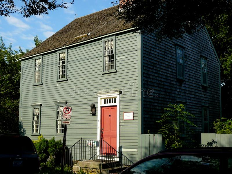 The William Ellery House, Signer of the Declaration of Indepence. This was the House of William Ellery in Newport, Rhode Island. He was one of the signers of the stock photos