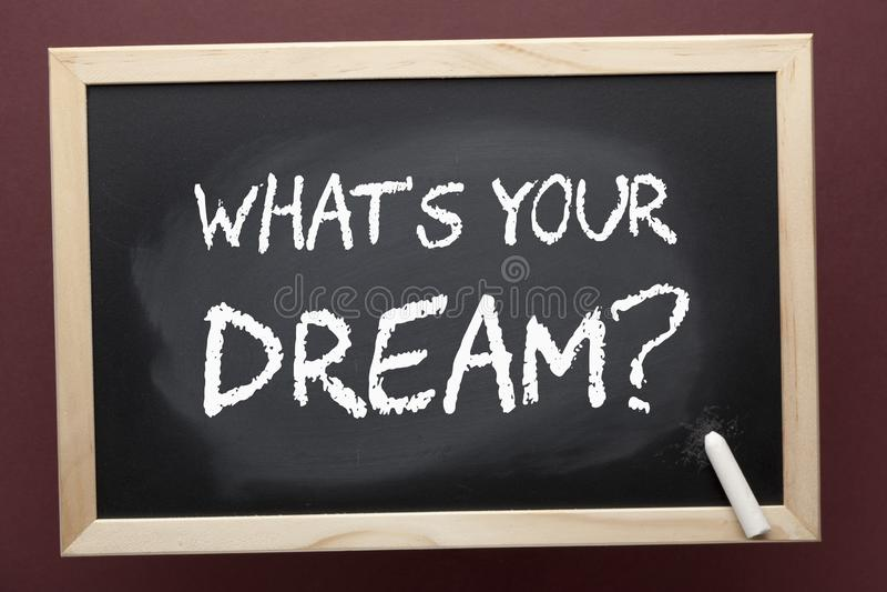 Was Ihr Traum ist lizenzfreie stockfotos
