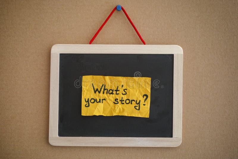 Was Ihre Geschichte ist lizenzfreie stockfotografie