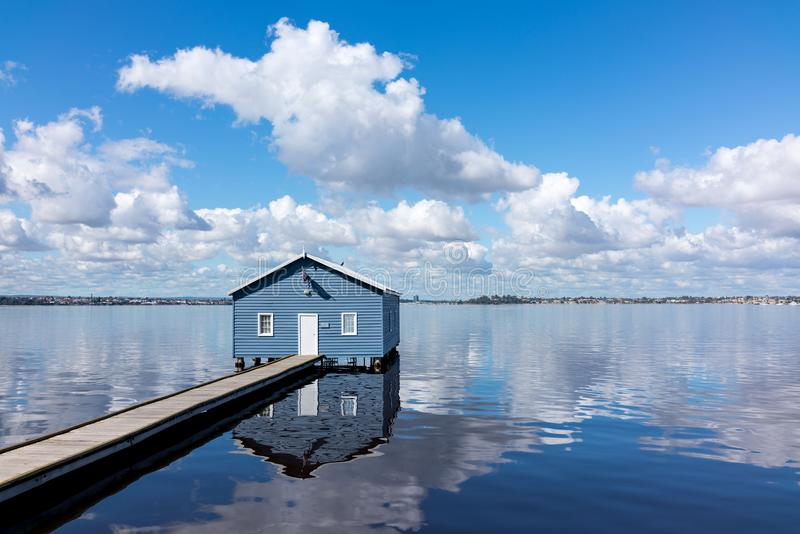 Hut on the lake royalty free stock photo