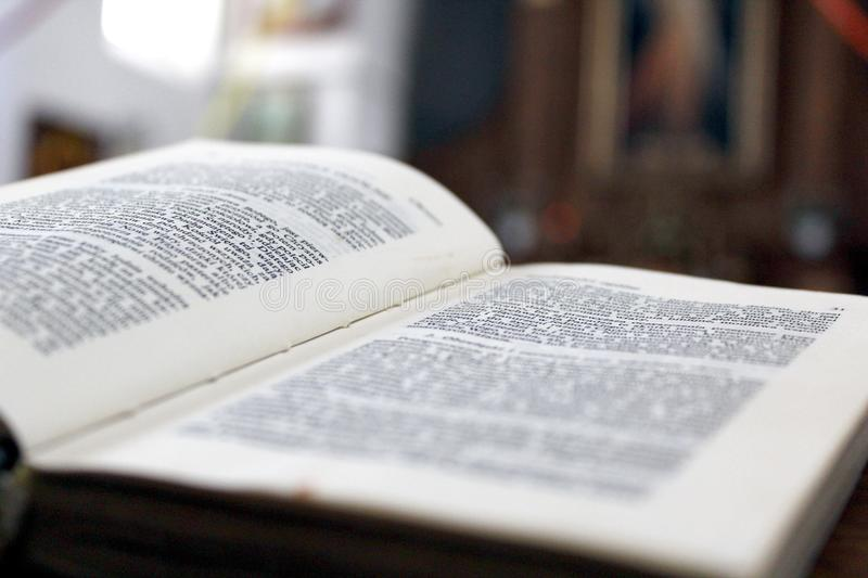When was the last time you opened the Bible? royalty free stock photos