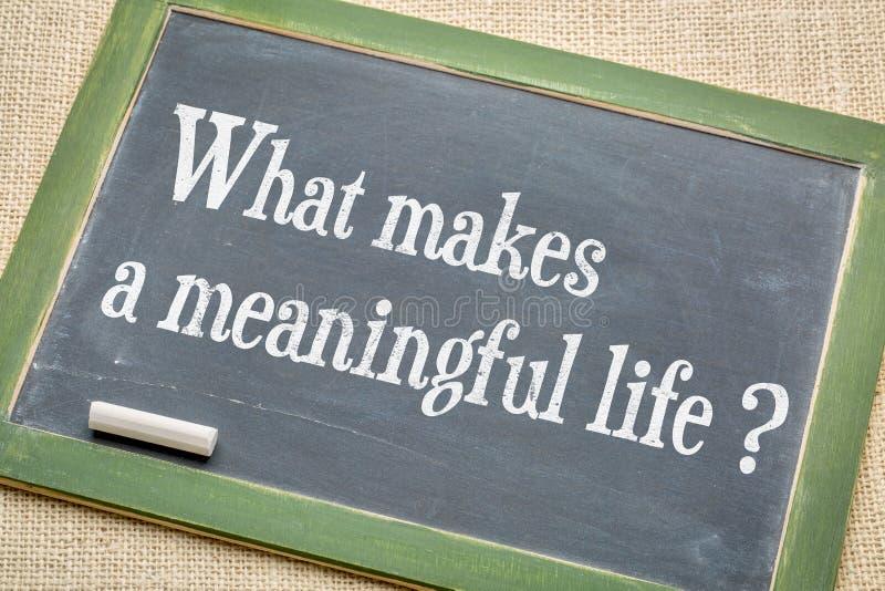 Was macht ein bedeutungsvolles Leben? lizenzfreie stockfotografie