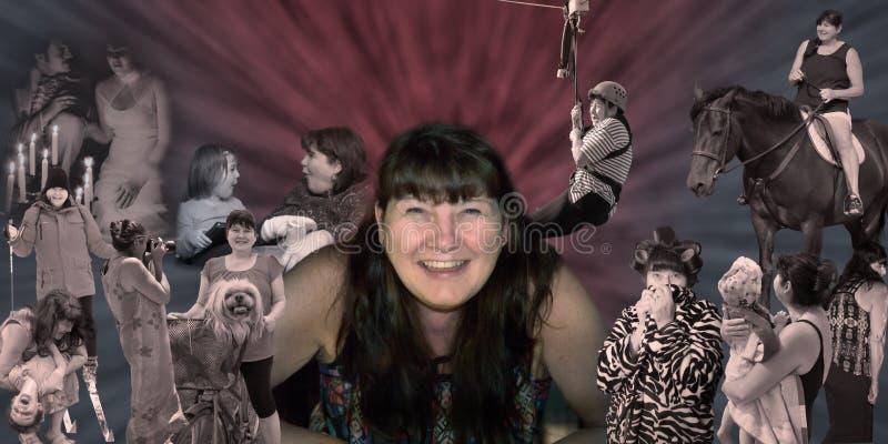 Was macht, ist eine Frau Freude, Gelächter, Glück, Liebe und Leben lizenzfreies stockbild