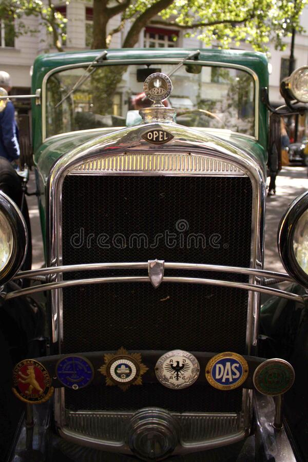 Old opel car front view stock images