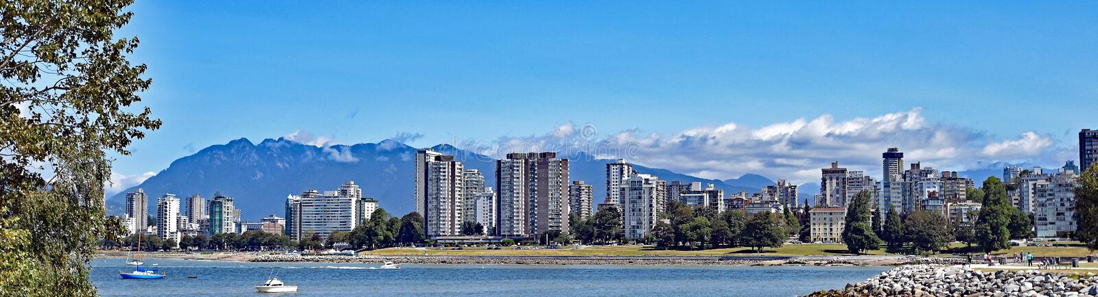 Afternoon blues across a Vancouver Skyline, British Columbia stock images