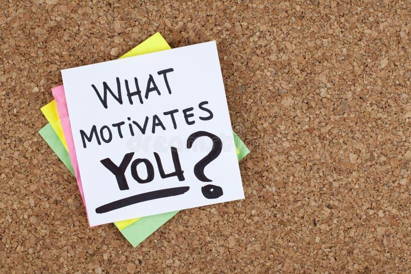 Was Sie motiviert stockbild