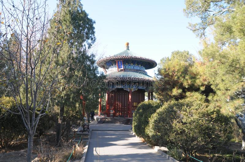 20191128 Scenery in Jingshan Park, Beijing, China. stock images