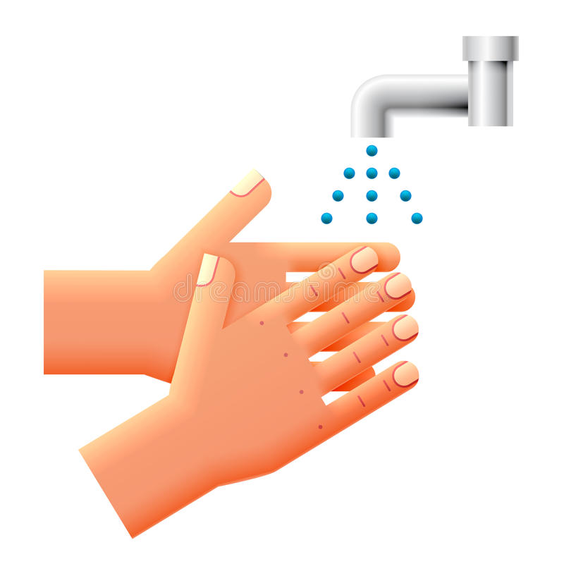 Was uw handen stock illustratie