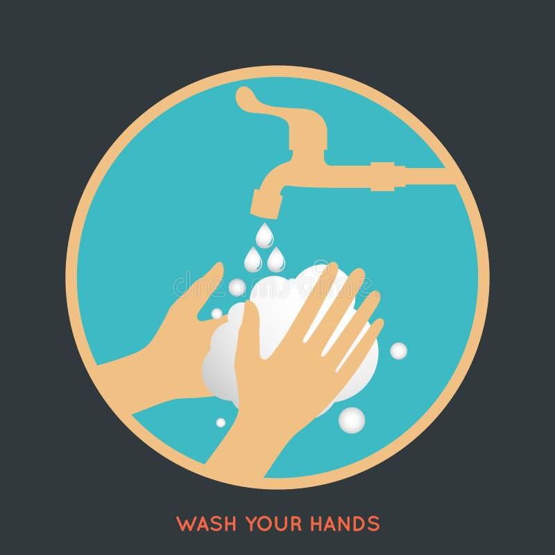 Was uw handensymbool vector illustratie