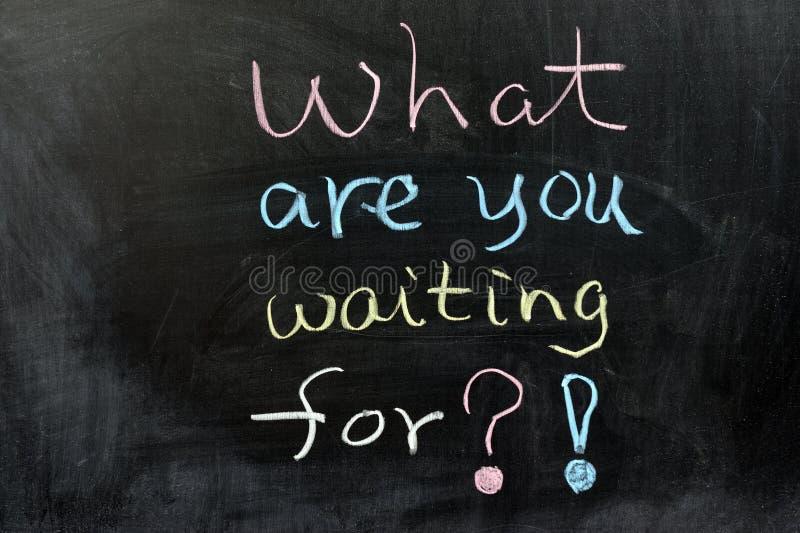 Was warten Sie? stockfotografie